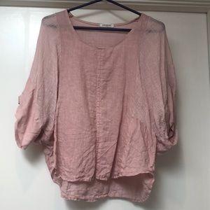 ❤️ 5/$15 Colorine linen batwing blouse